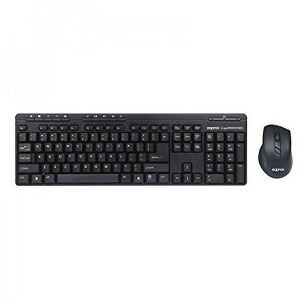Keyboard and Wireless Mouse approx! APPKBWSHOME2 Black