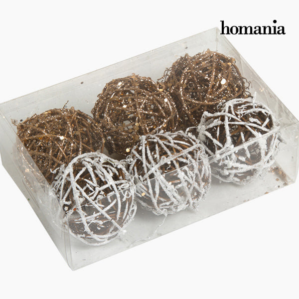 Christmas Baubles White Gold (6 pcs) by Homania