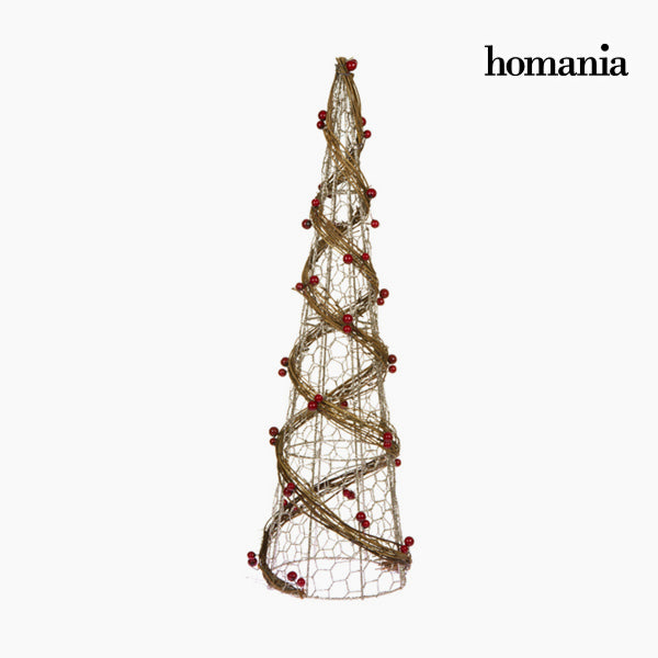 Christmas Tree Wire netting Rattan Natural Champagne (14 x 14 x 50 cm) by Homania
