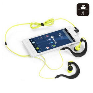 Sports Headphones NGS YELLOWTRITON Waterproof Yellow