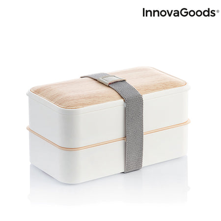Double Hermetically-Sealed Lunchbox with Cutlery Bentower InnovaGoods