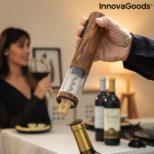 Automatic Rechargeable Wood Effect Corkscrew Corkout InnovaGoods