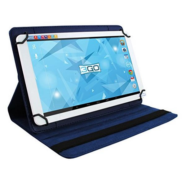 "Universal Rotating Leather Tablet Case 3GO CSGT24 7"" Blue"