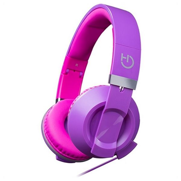 Headphones with Microphone Hiditec COOL KIDS WHP010007 Purple