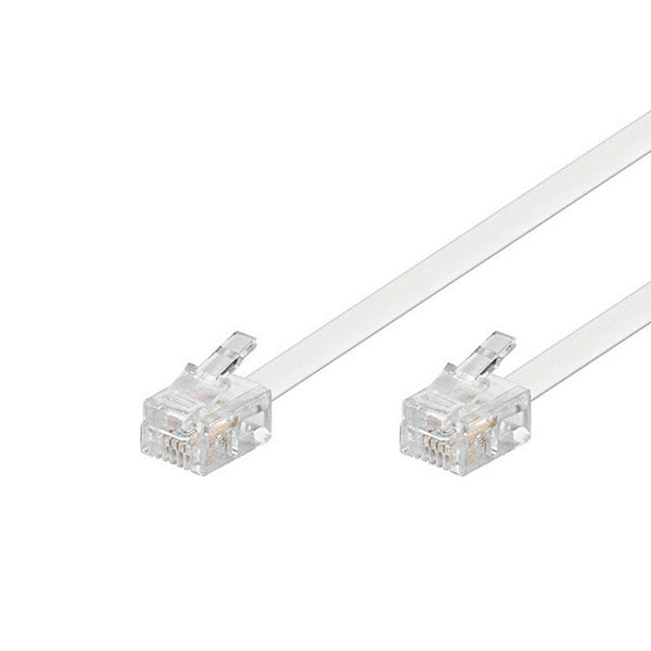 Telephone Cable Connection EDC RJ-11 5,4 m White