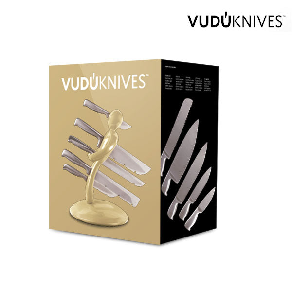 Vudú Knives Supreme Knife Holder and Knife Set (5 pieces)