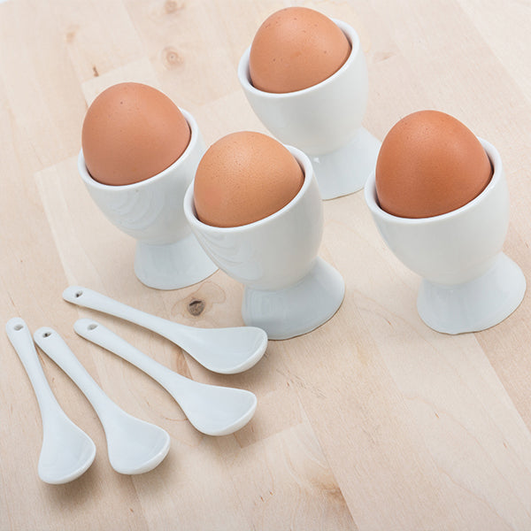 Eggcups with Little Spoons (8 pieces)