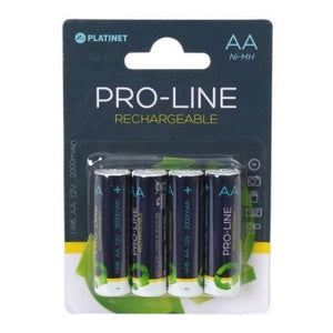 Rechargeable Batteries PLATINET PAR64 AA 2000 mAh