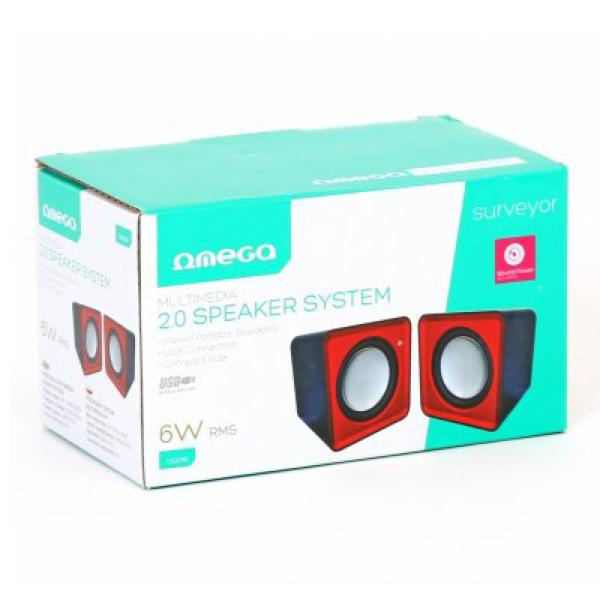 PC Speakers 2.0 Omega OG01R 6W USB Red
