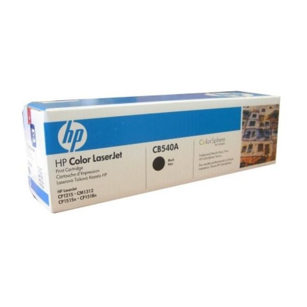 Original Toner Hewlett Packard CB540A Black