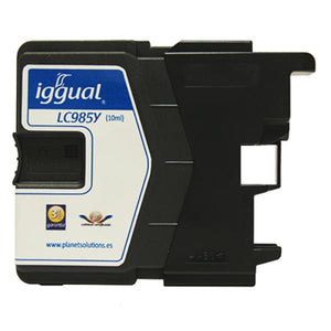 Recycled Ink Cartridge iggual Brother PSILC985Y Yellow