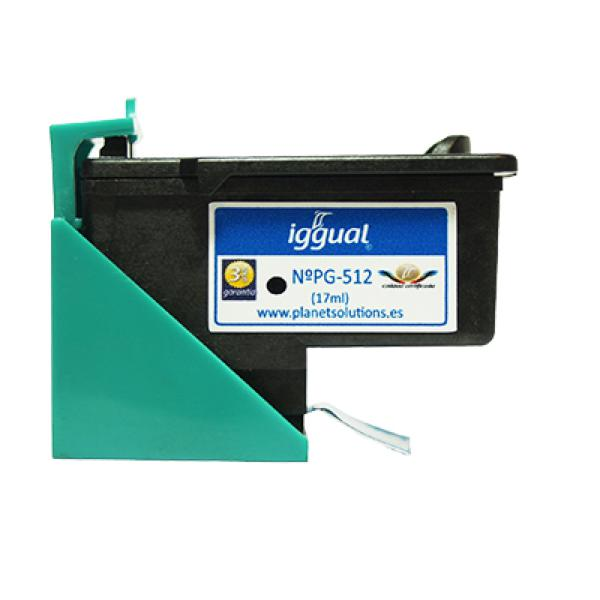Recycled Ink Cartridge iggual Canon PSIPG512 Black
