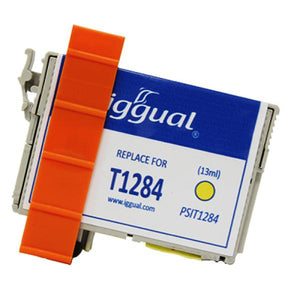 Recycled Ink Cartridge iggual Epson PSIT1284454 Yellow