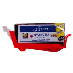 Recycled Ink Cartridge iggual Canon PSICLI521M Magenta