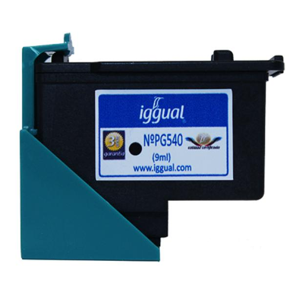 Recycled Ink Cartridge iggual Canon PSIPG540 Black