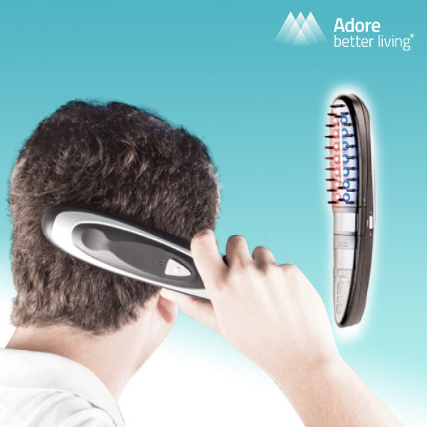Adore Better Living Anti-Hairloss Electric Hair Brush with Accessories