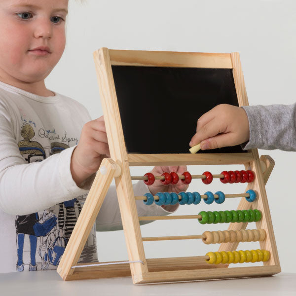 Children's Abacus with Double Blackboard