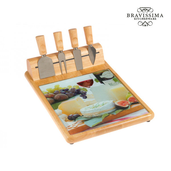 Cheese plate with cheese knife by Bravissima Kitchen