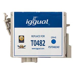Recycled Ink Cartridge iggual Epson PSIT048240 Cyan