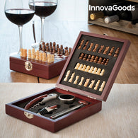 InnovaGoods Wine and Chess Set (37 Pieces)