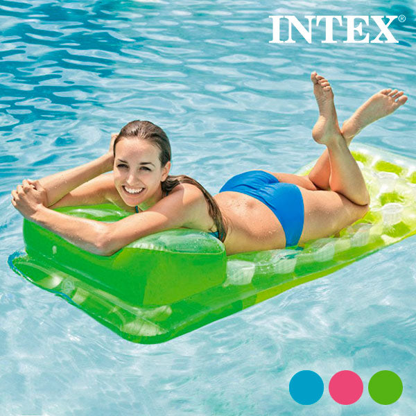 Inflatable Lilo with Headrest Intex