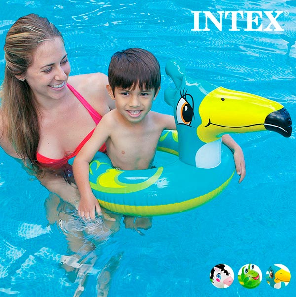 Animals Inflatable Rubber Ring Intex