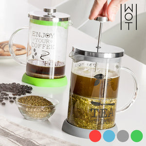 Wagon Trend Teapot-Coffee Maker with Filter Plunger