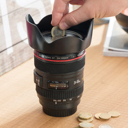 Camera Lens Money Box