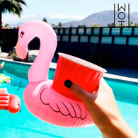 Adventure Goods Inflatable Flamingo Drink Holder