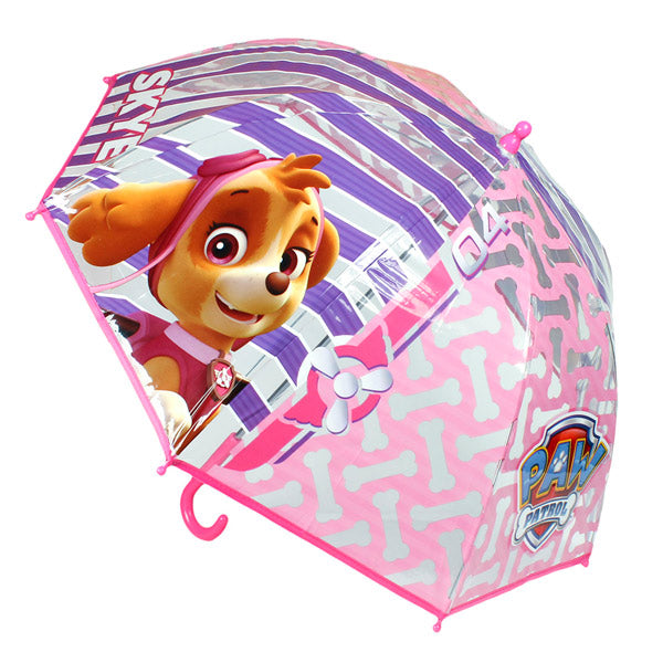 Paw Patrol Pink Transparent Dome Umbrella