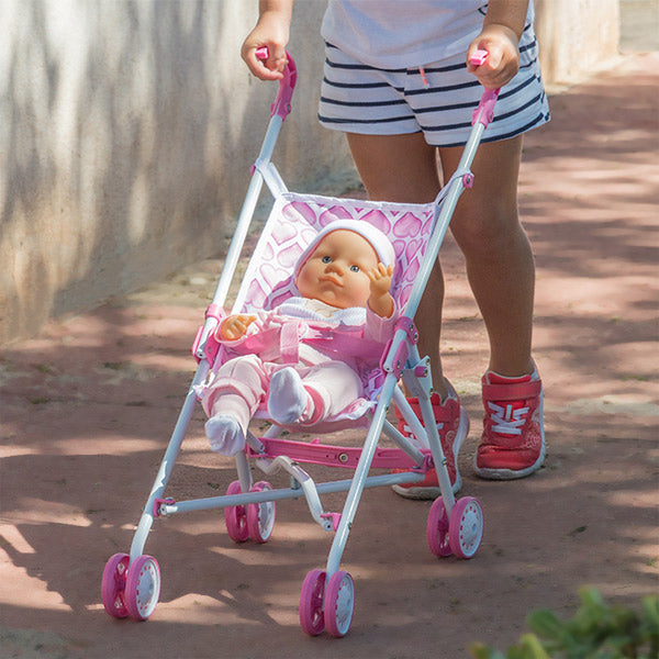 Hearts Pushchair for Dolls