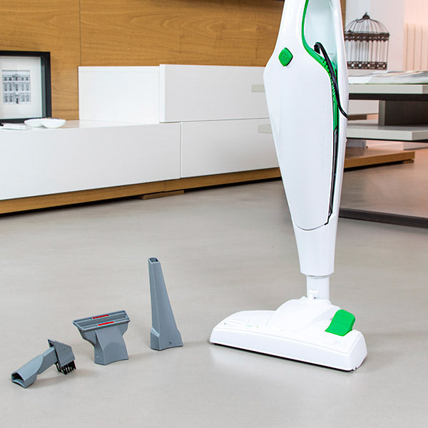 Upright and Handheld Cyclone Vacuum Cecoclean Dúo Stick 5005 0,5 L 76 dB 800W White Green Class A