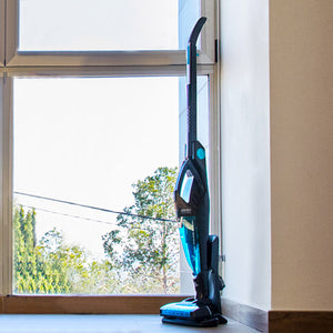 Upright and Handheld Cyclone Vacuum Cecoclean 5045 Ergo Extreme 0,8 L 2600W Blue Black Wireless