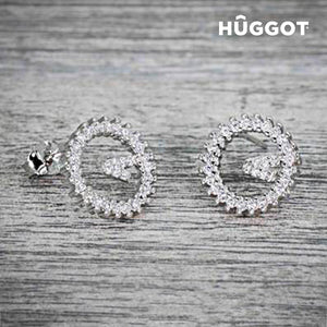 Hûggot Winner 925 Sterling Silver Earrings with Zircons