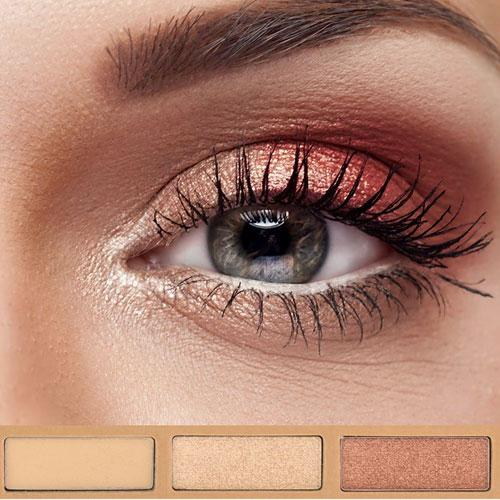 Kit de sombras orgánicas - Eye Essencial set de maquillaje Couleur Caramel