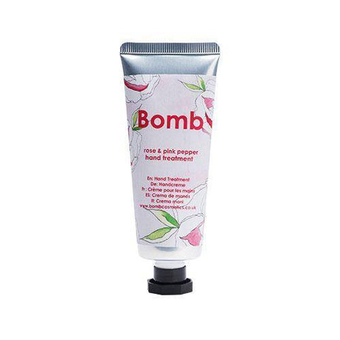 crema para manos rose and pink pepper - bomb cosmetics