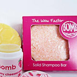 shampoo en barra wow factor - bomb cosmetics