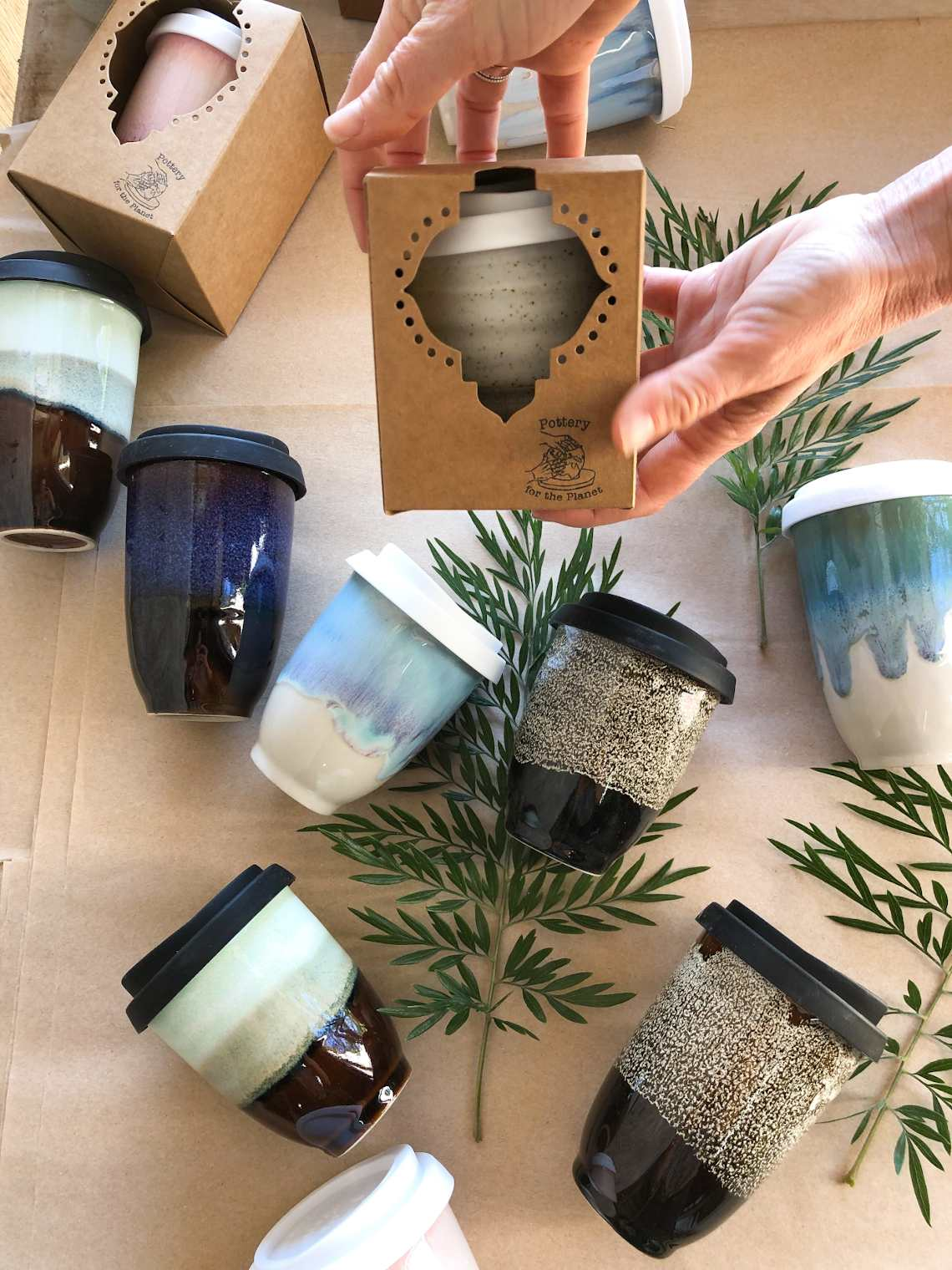 Christmas gift ideas - ceramic coffee cups, great for the environment!