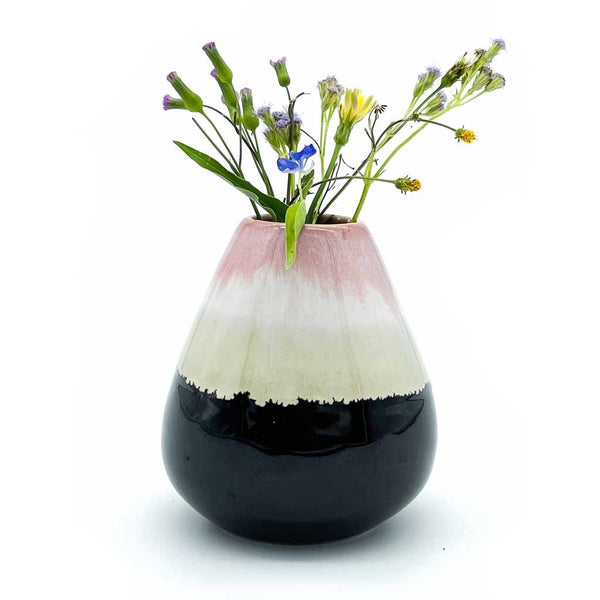 Earthy Flower Vase with Flowers
