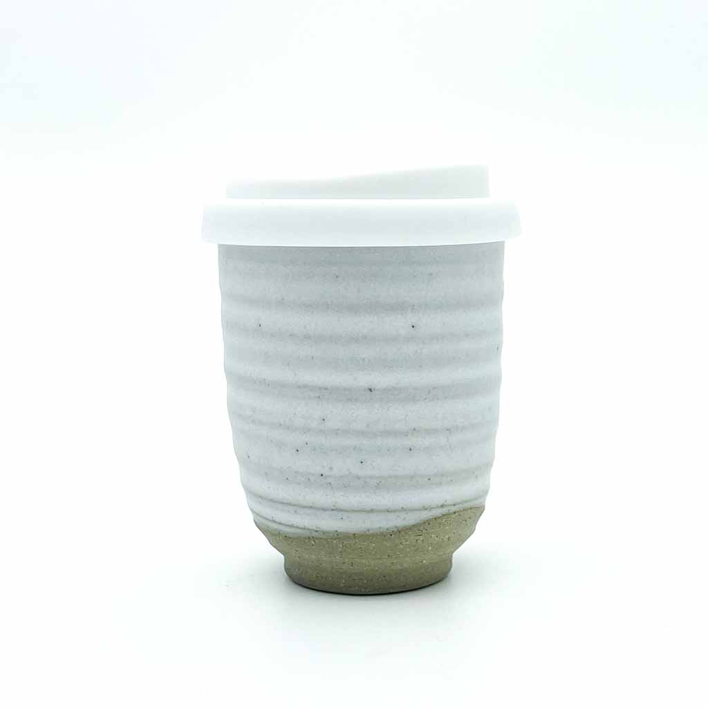 White Ceramic Keep Cup Ripple