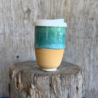 Sand & Sea Ceramic Travel Cup