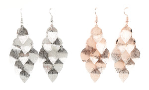 Layered Leaf Bundle Earrings-1115