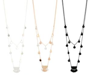 "Black Layered 18"" Necklace-1200"