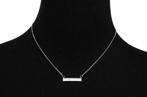Crystal Bar Necklace 18