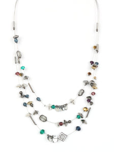 "Teal Necklace 18""-1789"