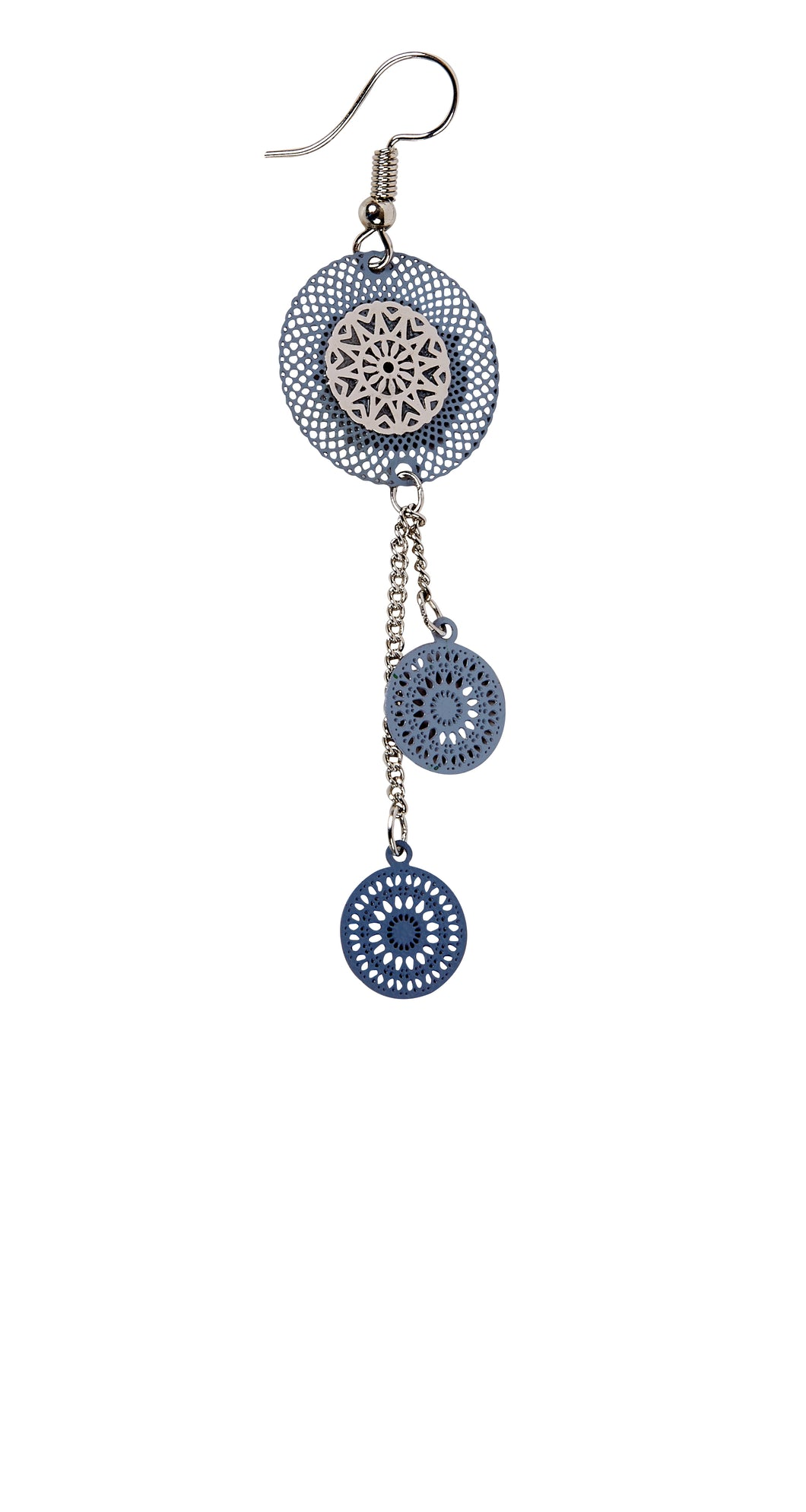 Blue/Grey Filigree Dangles-1890