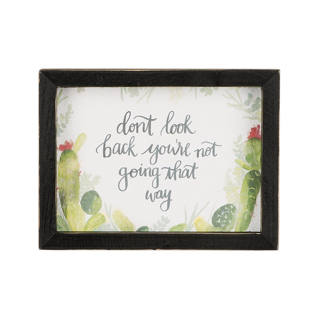 Don't Look Back Framed Watercolor