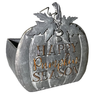 Metal Pumpkin Bucket
