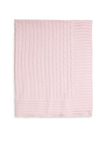 Elegant Baby Cable Knit Blankets