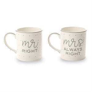Mr and Mrs Gift Mug Set